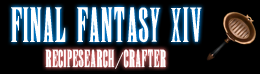 final fantasy xiv recipe search - crafter
